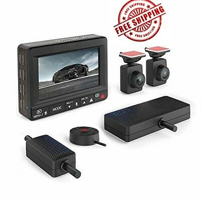 Esky Dual Dash Cam Front and Rear with Monitor, 1920P+1080P HD DVR Dashboard Cam