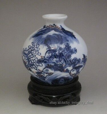 Nice Chinese Antique Blue and White Porcelain Vase /Water tank