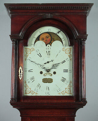 Antique George III Oak Longcase Clock c.1800.