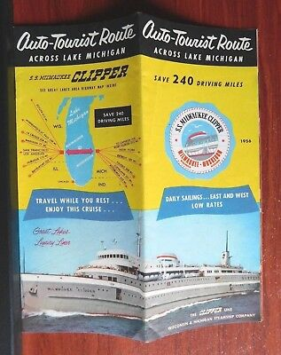 SS Milwaukee Clipper: Wisconsin & Michigan Steamship Co - 1956 brochure