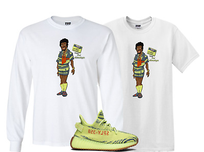 72651e9d88f WeWillFit shirt to match the ADIDAS YEEZY BOOST 350 V2 SEMI FROZEN YELLOW  YEBRA
