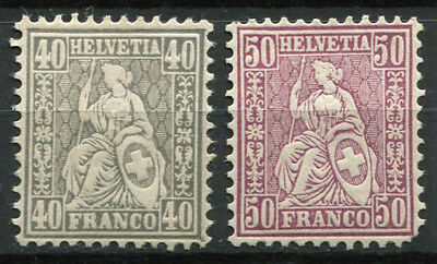 Switzerland 1867 Mi. 34-35 MH 60% Helvetia seated