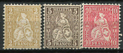 Switzerland 1881 Mi. 36-38 MH 100% Helvetia seated