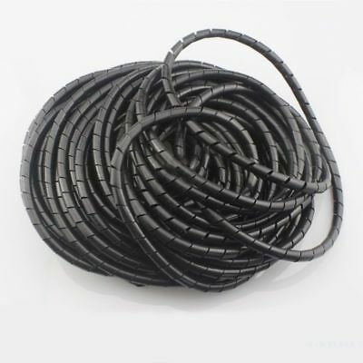 3D Printer Flame retardant 15M Length 6mm Black spiral Wrapping Cable casin M6D7