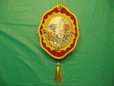 Vintage Very Ornate Hanging Music Box From Germany Pull Tassle
