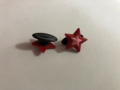 Red Star Shoe-Doodle Red Star Shoe Charm for Crocs Shoe Charms PSC001R