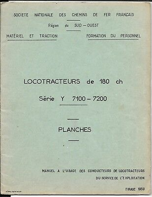 2 documents SNCF Locotracteurs Y 7100 (Chemin de fer,trains,locomotive
