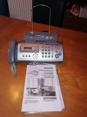 Panasonic phone fax and answer machine Kx Fp215. Pre-owned