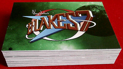 """BLAKE'S 7 - COMPLETE """"Green Series"""" BASE SET - 54 CARDS - Unstoppable Cards 2013"""