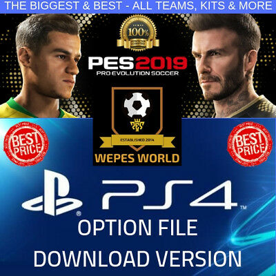 Pes 2019 Option File Ps4 Wepes World -100% Complete, Includes Legends + Gift!