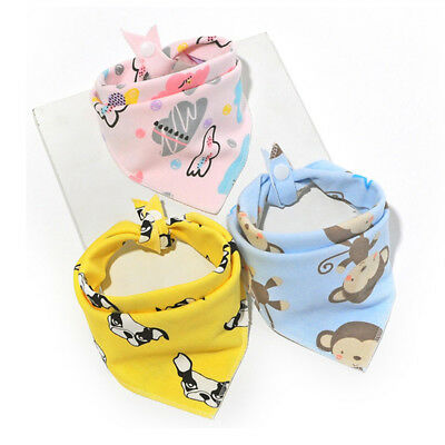 1pcs Cute Baby Infant Triangle Scarf Bandana Feeding Bibs Saliva Towel Dribble