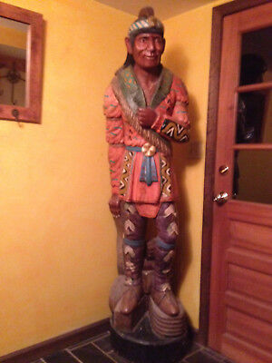 "Cigar Store Indian, 73"" high, Handsomely painted wood.  Circa 1970 or before."