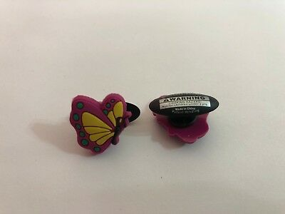 Pink Butterfly Shoe-Doodle Pink Butterfly Shoe Charm Crocs Shoe Charms PSC091D