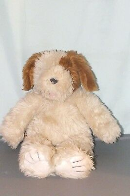 Build A Bear Plush Beige & Brown Sweet Shaggy Dog With Magnet Mouth