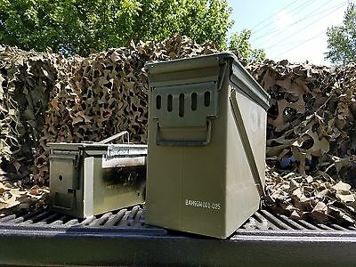 20 mm Ammo Can Boxes Cases with free 50 .50 cal M2A1 ammo can!!!!!!!!!