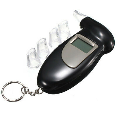 Etilometro Digitale Tester Dell'alcol Breathalyzer Alcohol Test Con Luci Led