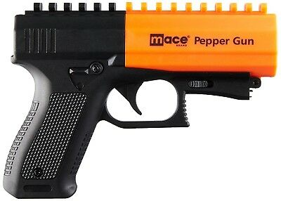 MACE Pepper Gun 2.0 W/ Strobe LED Light 28 Gram Aerosol 10% OC UV Dye Black