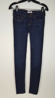 New Hollister Stretch Skinny 0L Blue Jeans W24 L33