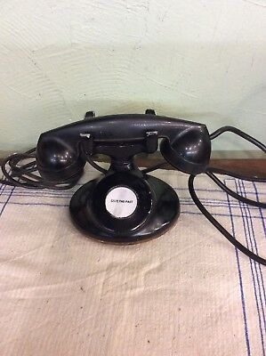 Antique Telephone Bell System Western Electric Hotel Phone Party Line No Dial