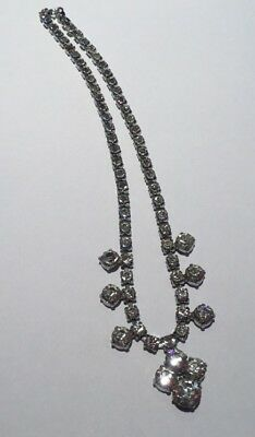 Vintage Art Deco Sparkling Diamanté Crystal Necklace