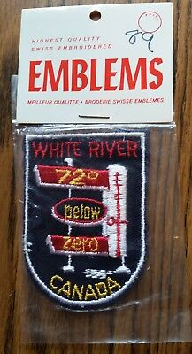 Vintage Collectible 1970s Souvenir Travel Patch Sew On Jacket WHITE RIVER Canada