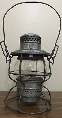 VINTAGE CNR  Canadian National Railroad Hiram Piper Lantern Clear Globe