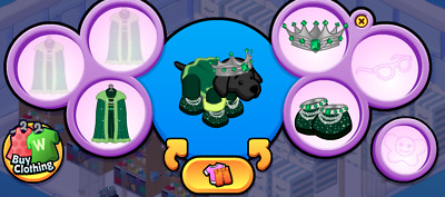 Webkinz Online Virtual Clothing - Promo Evergreen King FULL OUTFIT