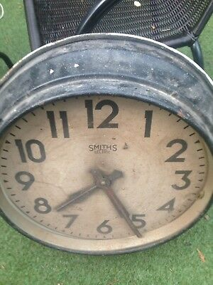 Vintage Smiths Sectric Large 22 Inch Wall Clock Railway ? School ? Factory?