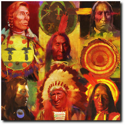 Men at Arms by R. Tom Gilleon - Native People - Indian Art - Canvas