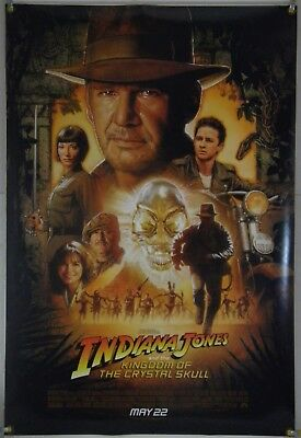 Indiana Jones Kingdom Of The Crystal Skull Ds Rolled Orig 1Sh Movie Poster 2008
