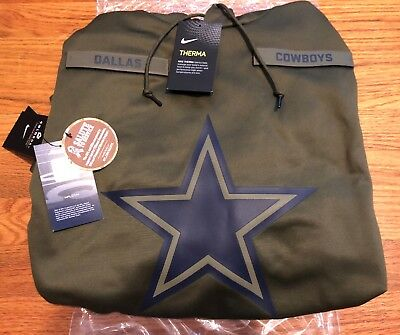 27c99270d45 DALLAS COWBOYS Salute to Service Therma Fit Hoodie 2018 Nike Military STS