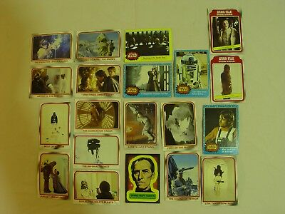 Vintage Star Wars The Empire Strikes Back Story Digest Cards Lot Of 20 1977