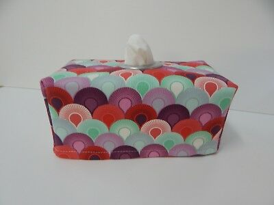 """Tissue Box Cover """"Elizabeth"""" by Tula Pink With Circle Opening - Lovely Gift"""