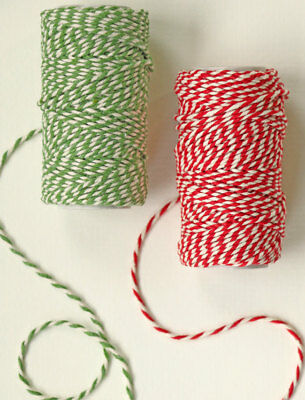 RED and GREEN Bakers Twine -  10m or 20m - Christmas Gift Wrap String