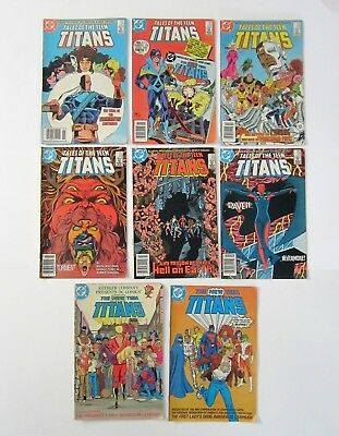 Lot of New Teen Titans DC Comics -2 1983 Drug Awareness & 6 Tales of Teen Titans