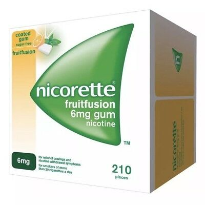 Nicorette Gum Fruitfusion 6mg- 6 Pack Of 210 ## SAVING ## March 2021 Expiry