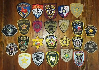 Texas Sheriff Patchs / Collectible. (24) Texas Sheriff's Department patches