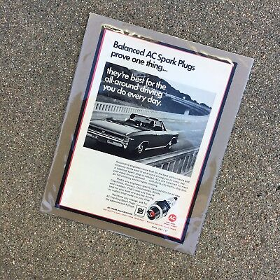 "1967 GM AC Sparkplug: ""1967 Convertible Chevelle"" 8x10 Vintage Print Ad"