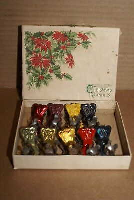 Lot of 9 Antique Tin Clip-On Christmas Tree Candle Holders