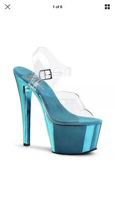 Turquoise Pleasers Size 11 Sky 308 7 Inches