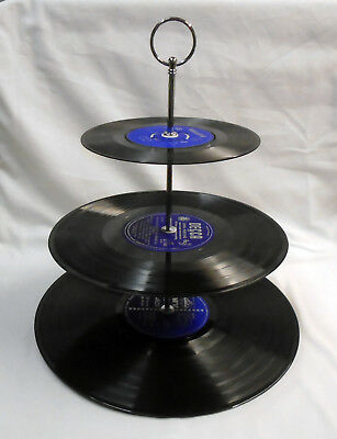 Cup Cake stand - Vinyl Records CHOICE OF COLOUR - Wedding Birthday Party Tea