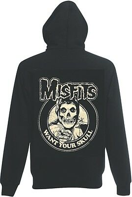 MISFITS Want Your Skull zip hoodie mens  all size S-5XL psychobilly punk n roll