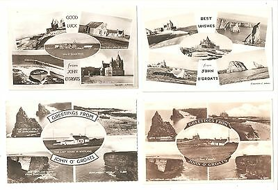 Four Multiview Postcards of  John O'Groats Scotland Scottish postcards Caithness