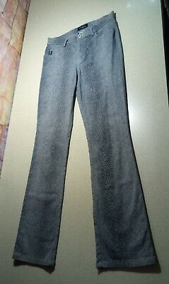 Women's Junior's Guess Gray Pebbled Print Stretch Pants Size 29x30