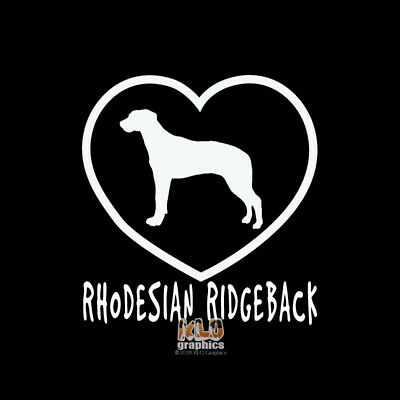 RHODESIAN RIDGEBACK I Love My Vinyl Sticker / Decal akc Registered Pet Dog