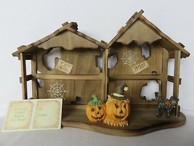 NEW Enesco Calico Kittens Halloween House Displayer 1994 #655562 w/ Original Box