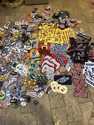 Lot of 1400+ Vintage Emboidered And Iron On Patches  Perfect for Flea Markets