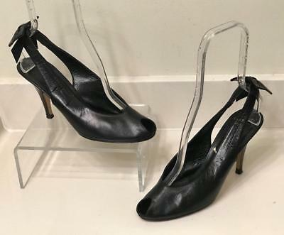 YVES SAINT LAURENT Black Leather Square Toe with Broach -  80.00 ... 64488513ab16a