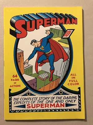 Superman #1 Exact cover to cover reprint of Golden age comic classic