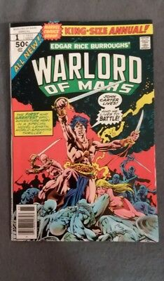 Marvel Comics  John Carter Warlord of Mars #1 & 2! Hi-Grade See photos! (1977-8)